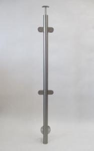 Statramstis su stiklo laikikliais: Ø = 42.4 mm__ aukštis 1130 mm__Kaina: 55 € + PVM