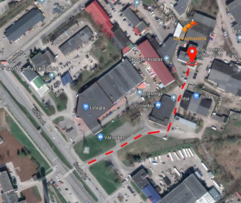 MB Vaidmanta žemėlapis