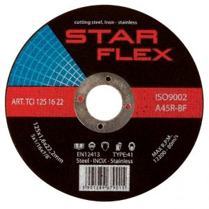Nerūdijančio plieno pjovimo diskas 125x1.0x22