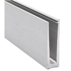 Profilis stiklui iš aliuminio H =121,A=45,L = 2500